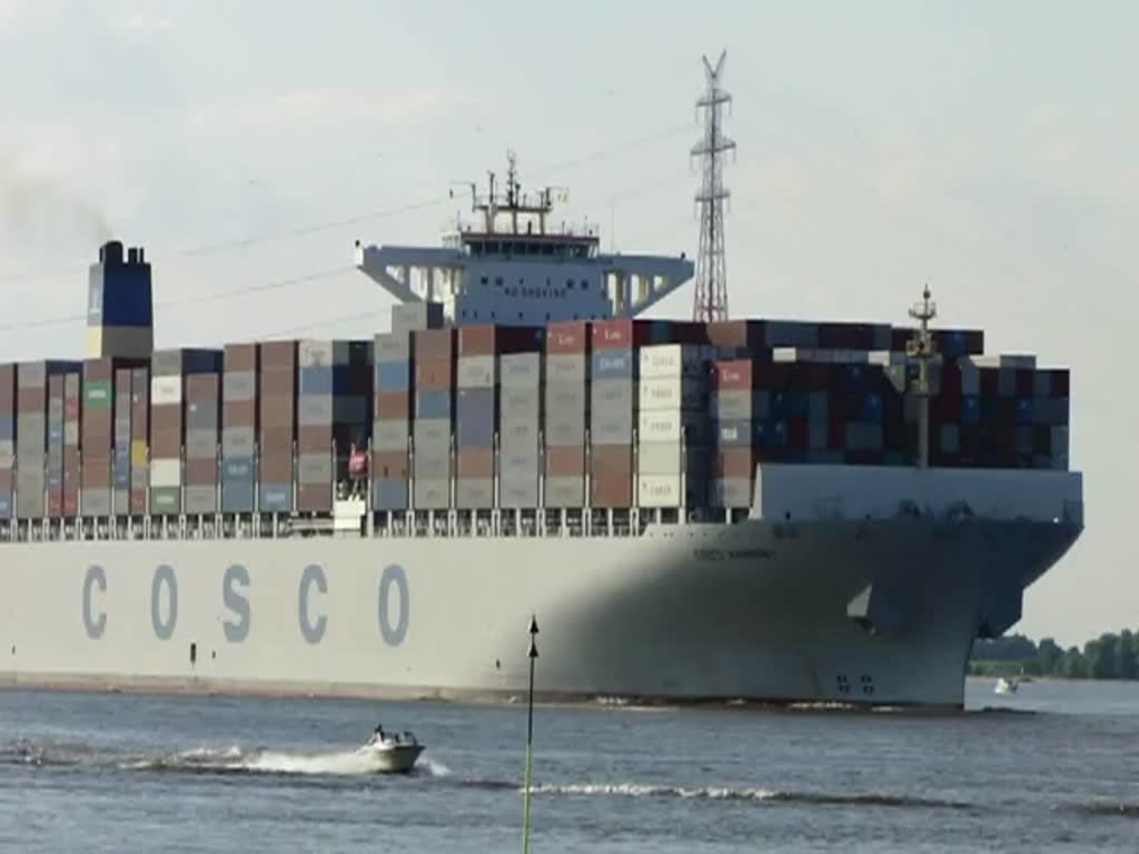 COSCO HARMONY  Kurs Hamburg 27.05.2012 