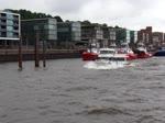 """HAFENPERLE (ENI 04803470)am 22.6.2018 bei Starkwind und entsprechendem """"Seegang"""", Hamburg, Elbe Höhe Neumühlen /   Ex-Namen: FÖRDE PRINCESS (2003-2015),  K. PRENS (1999-2003) / Fahrgastschiff / Lüa 21 m, B 7 m, Tg 1 ..."""